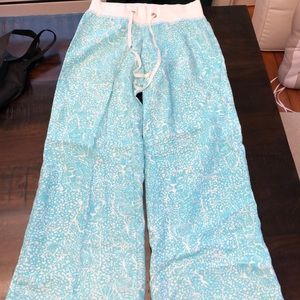 Lilly Pulitzer linen beach pants
